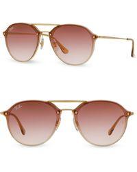 a433840c0 Ray-Ban - Women's Iconic Round Aviator Sunglasses - Light Brown - Lyst