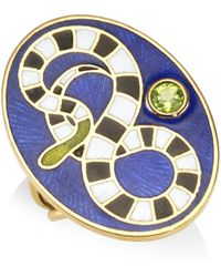 Holly Dyment - Women's Peridot 18k Yellow Gold Snake Ring - Lyst
