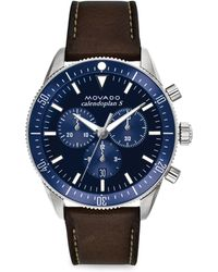 Movado - Heritage Series Calendoplan S Chronograph Watch - Navy - Lyst