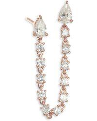 Anita Ko - 18k Gold & Diamond Double Pear Loop Earrings - Lyst