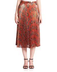 Suno | Pleated Midi Skirt | Lyst