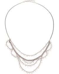 Chan Luu - Sterling Silver Tiered Bead Necklace - Lyst