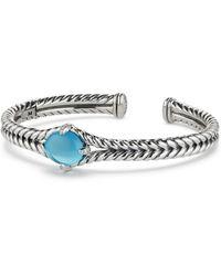 David Yurman - Chatelaine Sterling Silver, Gemstone & Diamond Bracelet - Lyst