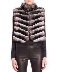 Saks Fifth Avenue - Chinchilla Fur Vest - Lyst