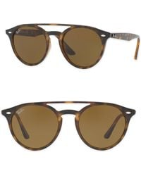 Ray-Ban - 51mm Phantos Round Double-bridge Sunglasses - Lyst