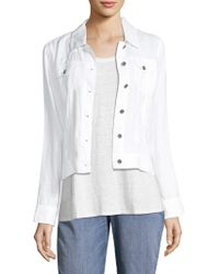 Eileen Fisher - Collection Cropped Organic Linen Jacket - Lyst