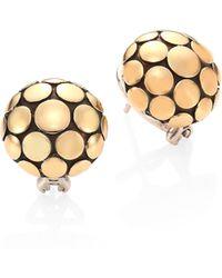 John Hardy - Dot 18k Yellow Gold Large Button Earrings - Lyst