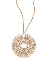 Astley Clarke - Rising Sun Diamond & 14k Yellow Gold Pendant Necklace - Lyst