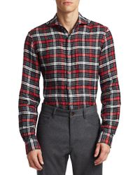 Saks Fifth Avenue - Collection Linen Check Shirt - Lyst
