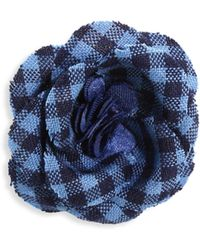 Hook + Albert - Plaid Lapel Flower - Lyst