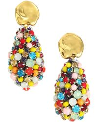 Lizzie Fortunato - Roman Holiday 18k Goldplated & Gemstone Cluster Drop Earrings - Lyst