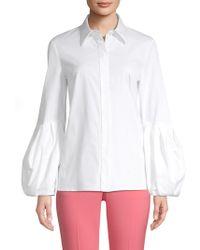Michael Kors - Puff Sleeve Button-down Shirt - Lyst
