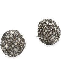 Alexis Bittar - Elements Crystal Encrusted Button Stud Earrings - Lyst