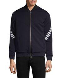 Twenty - Stripe Sleeve Wovenbomber Jacket - Lyst