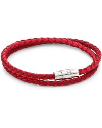 Saks Fifth Avenue - Collection Red Double Wrap Leather Bracelet - Lyst