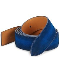 Corthay - Classic Suede Buckle Belt Strap - Lyst