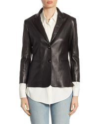 The Row - Nolbon Leather Jacket - Lyst