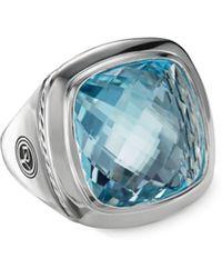 David Yurman Albion Sterling Silver & Gemstone Ring - Blue