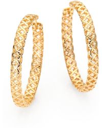 Gucci - Diamantissima 18k Yellow Gold Hoop Earrings/1.5 - Lyst