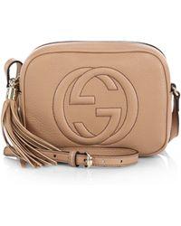 2269922a57fc Gucci - Women s Soho Leather Tassel Camera Bag - Black - Lyst