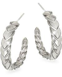 John Hardy - Legends Naga Silver Small Hoop Earrings - Lyst