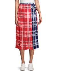 Tommy Hilfiger - Pleated Wrap Skirt - Lyst