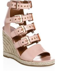 Laurence Dacade - Rosario Shiny Leather Wedge Sandals - Lyst