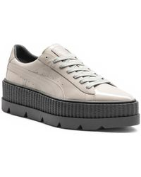 PUMA | Pointy Patent Leather Creeper Sneakers | Lyst