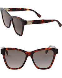 Fendi - 55mm Oversized Cat Eye Sunglasses - Lyst