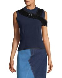 Harvey Faircloth - Special Editions Sequin Shoulder Band Top - Lyst