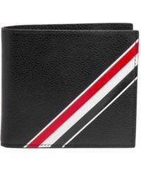 Thom Browne - Diagonal Stripe Leather Wallet - Lyst