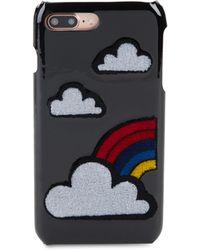 Les Petits Joueurs - Cloud Leather Phone Case - Lyst