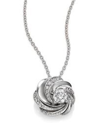 De Beers - Aria Diamond & 18k White Gold Pendant Necklace - Lyst