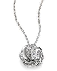 De Beers - Aria Diamond & 18k White Gold Pendant Necklace - Lyst
