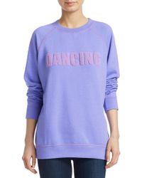 Sandro - Philipine Embroidered Sweatshirt - Lyst