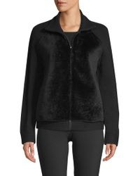 Lafayette 148 New York - Shearling Bomber Jacket - Lyst
