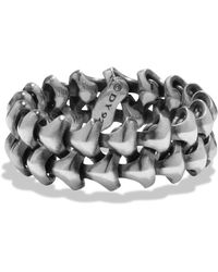 David Yurman - Armory Sterling Silver Ring - Lyst