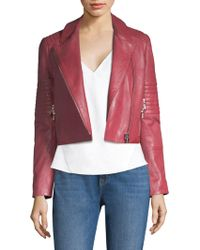 J Brand - Aiah Leather Jacket - Lyst