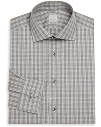 Ike Behar - Regular-fit Lion Check Dress Shirt - Lyst