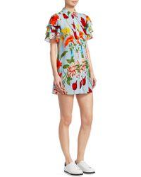Alice + Olivia - Jem Floral Shirtdress - Lyst