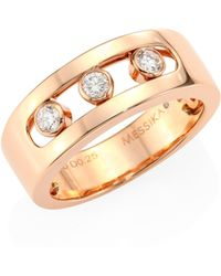 Messika - Move Joaillerie Diamond & 18k Rose Gold Ring - Lyst