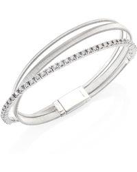 Marco Bicego - Masai Diamond & 18k White Gold Three-row Bracelet - Lyst