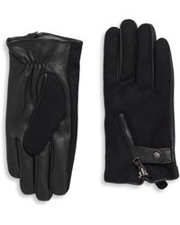John Varvatos - Deerskin & Wool Zip Gloves - Lyst