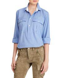 Polo Ralph Lauren | Cotton Button-front Top | Lyst