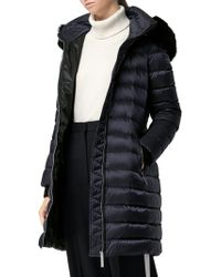 Burberry - Detachable Shearling Trim Down-filled Puffer Coat - Lyst