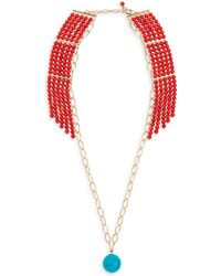 Aurelie Bidermann - Ana 18k Gold & Coral Necklace - Lyst