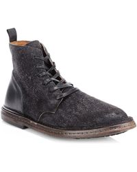 John Varvatos - Suede Zip Ankle Boots - Lyst