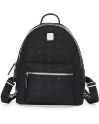 50f60e0e1db6 MCM Small Dieter Monogram Nylon Backpack in Black - Lyst
