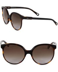 Chloé - Quilly Contemporary Layered Sunglasses - Lyst