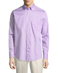 Peter Millar | Crown Gingham Button-down Shirt | Lyst